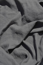 100% linen fabric with stone washed finish, Gray
