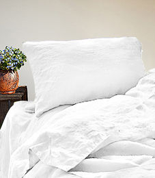 Copy of Stone Washed Linen Duvet Cover Set, White