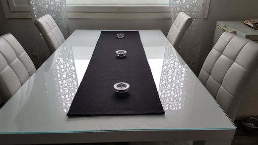 100% Natural black Linen Table Runner