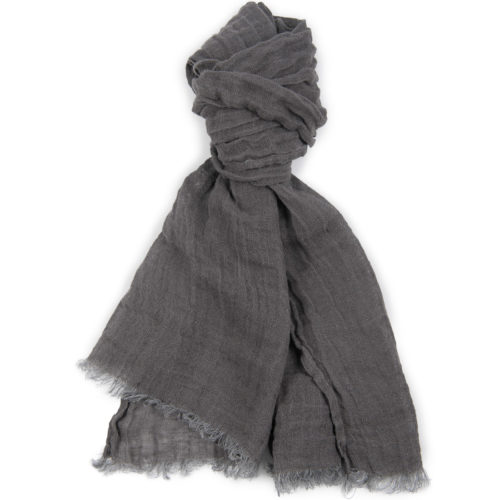 100% Natural Linen Scarf,  Gray