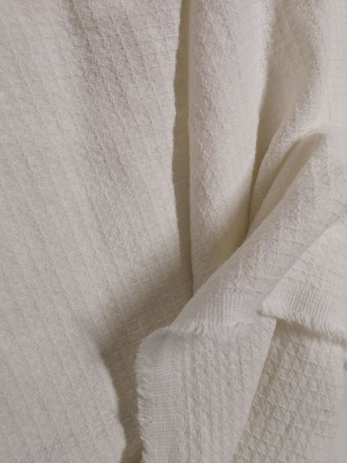 Copy of 100% Linen double wide Waffle Fabric.