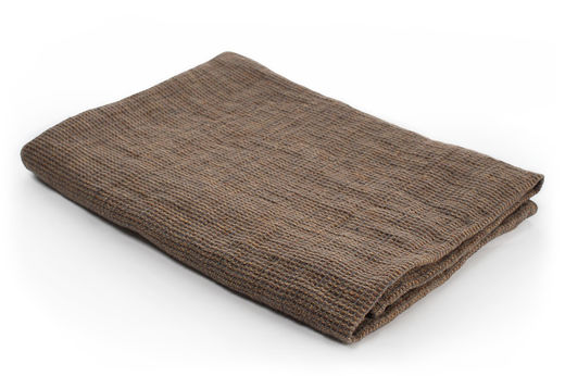100% Natural Linen Waffle Bath Towel, Brown