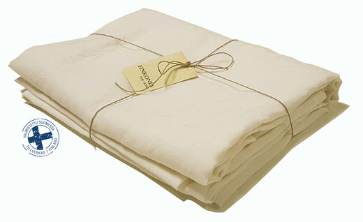 Copy of Stone Washed Linen Bed Sheet, White