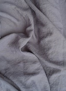 Doble wide gray linen fabric