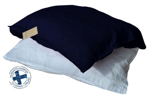 100% Natural Linen Stone Washed Pillow Case, Dark blue