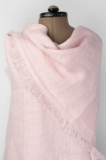 100% Natural Linen Scarf, Light Pink