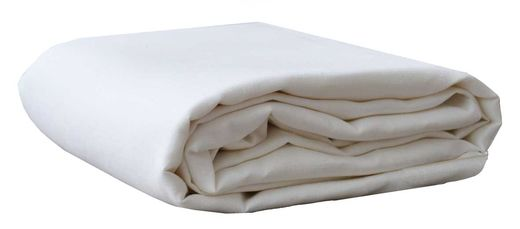 100% Natural linen Sheet, White