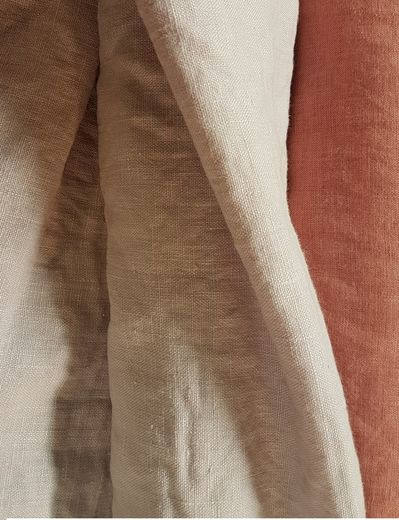 Stonewashed linen fabric