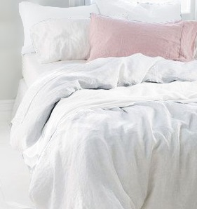 Copy of Stone Washed KingSize Linen Duvet Cover Set, White