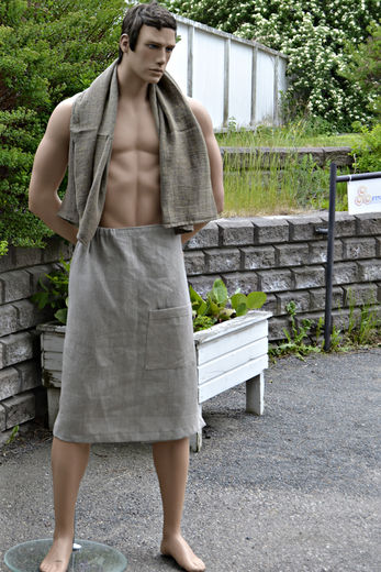 Men's Bath Wrap Towel with Pocket