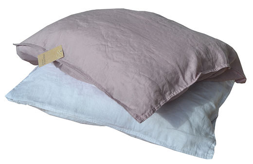 100% Natural Linen Stone Washed Pillow Case, Old Rose