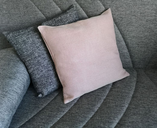 100% Natural linen Decorative pillow Cases Light Rose
