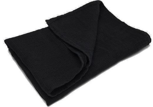Washed Waffle Hand Towels, black