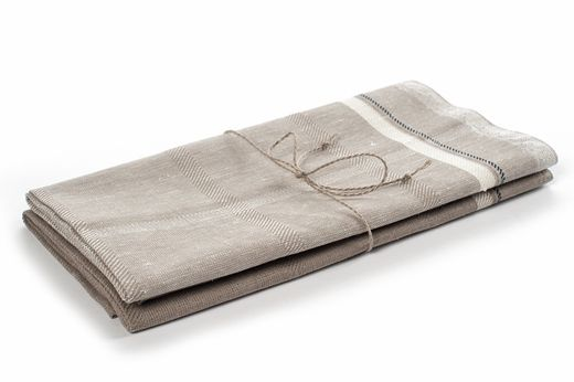 Natural hand towel set