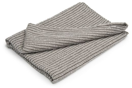 Washed Waffle Hand Towels, White/Gray