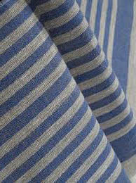 Sauna Seat Cover Fabric, natural/ blue