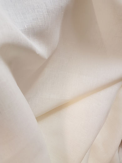 Double wide semi-bleached linen fabric