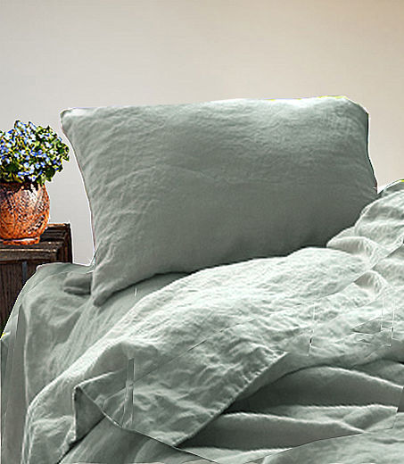 Copy of Stone Washed Linen  Duvet Cover Set,  Light Rose