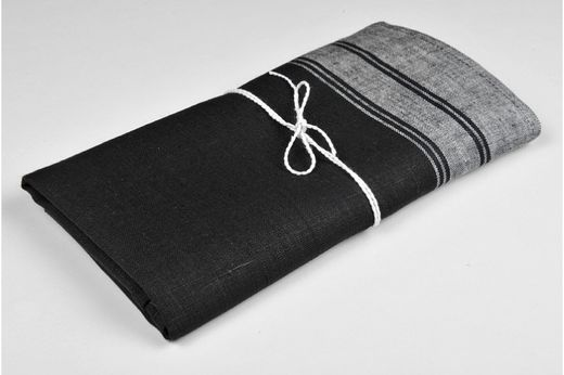 Hand towel Natura, Black