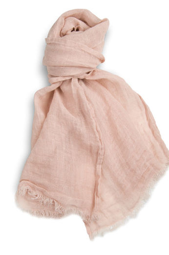 100% Natural Linen Scarf,  Rose