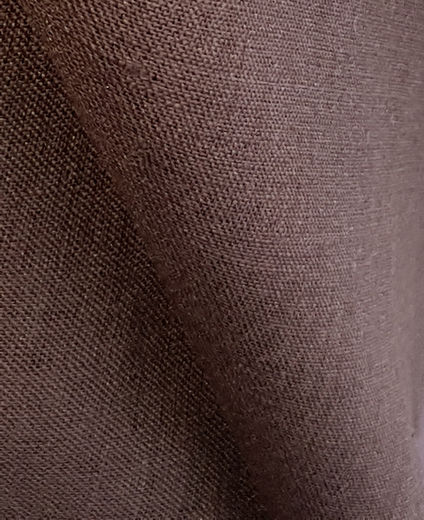 100% Linen Fabric PV191, Brown