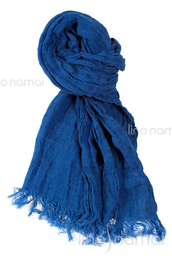 Copy of 100% Natural Linen Scarf, Light Blue