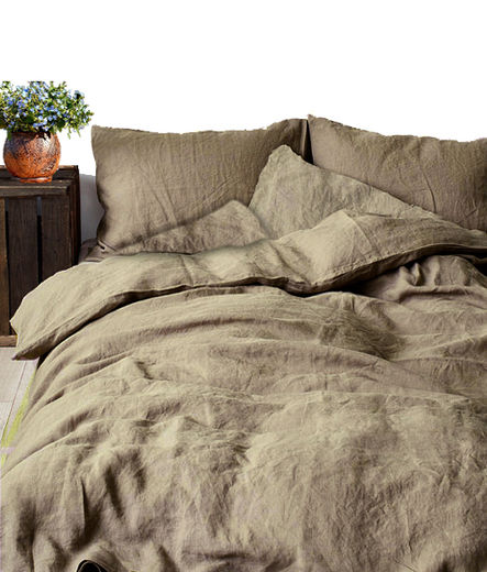 Stonewahsed linen Queen bed duvet cover