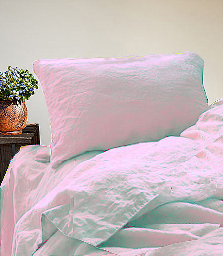 Stone Washed Linen  Duvet Cover Set,  Light Rose