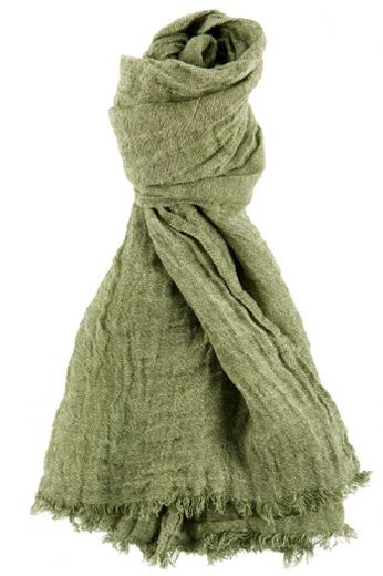 100% Natural Linen Scarf, Green