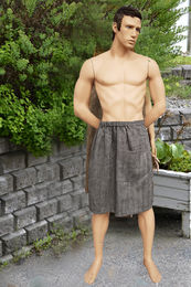Copy of Copy of Men's Bath Wrap Towel with Pocket