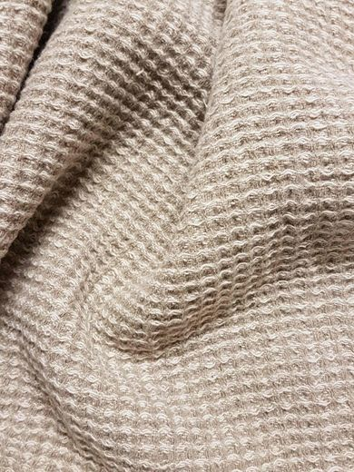 100% Linen double wide Waffle Fabric.