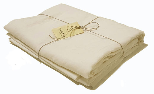 Copy of Copy of Copy of Stone Washed Linen Bed Sheet, White