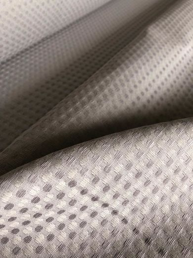 Half Linen Waffle Fabric, Light Gray