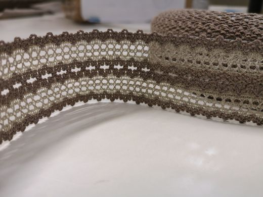 Copy of Copy of Copy of Copy of 100% Linen Lace Trim PEP839, Natural Color