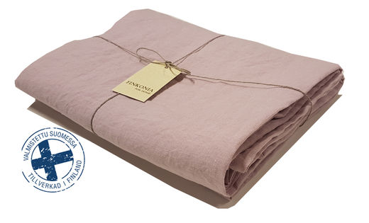 Stone Washed Linen Bed Sheet, Old Rose