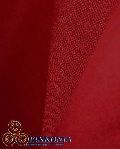 Natural Softened Linen Fabric PP1542 Red