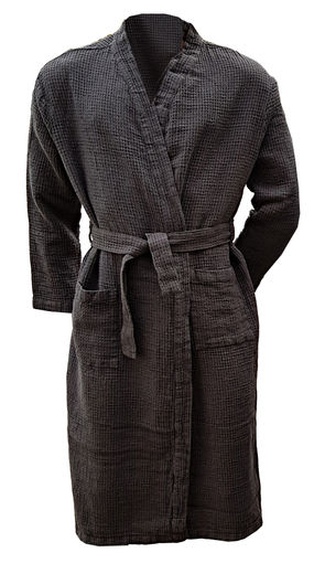Copy of 100% Natural linen Bathrobe, Natural color