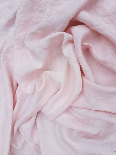 Stone Washed 100% Linen Fabric SW1301, Pink