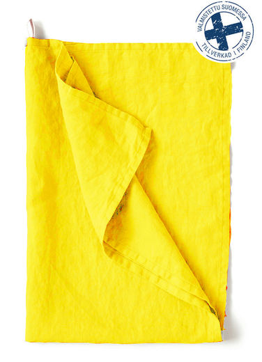 Stone Washed hand towel, Yellow