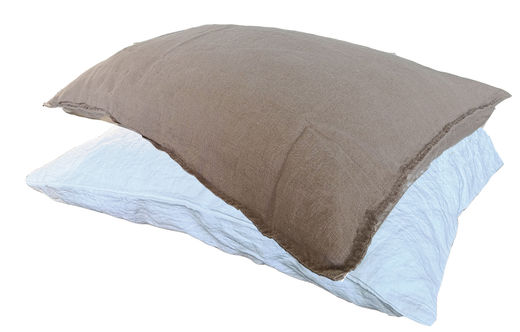 100% Natural Linen Stone Washed Pillow Case, Coffe with Milk