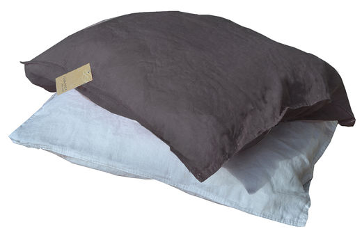 100% Natural Linen Stone Washed Pillow Case, Grey