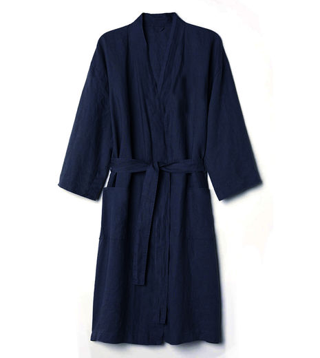 Stonewashed Linen Bathrobe