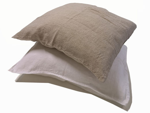 Copy of 100% Natural Linen Stone Washed Pillow Case, White