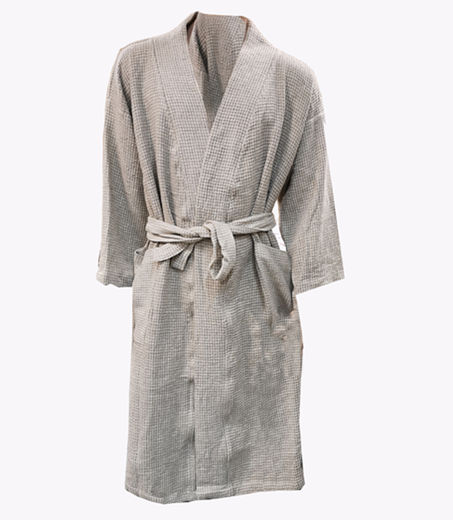 Copy of Copy of 100% Natural linen Bathrobe, Natural color