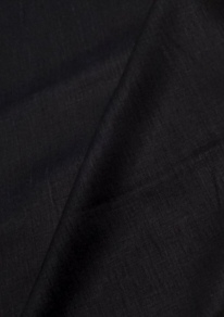 Natural Softened Linen Fabric, Black