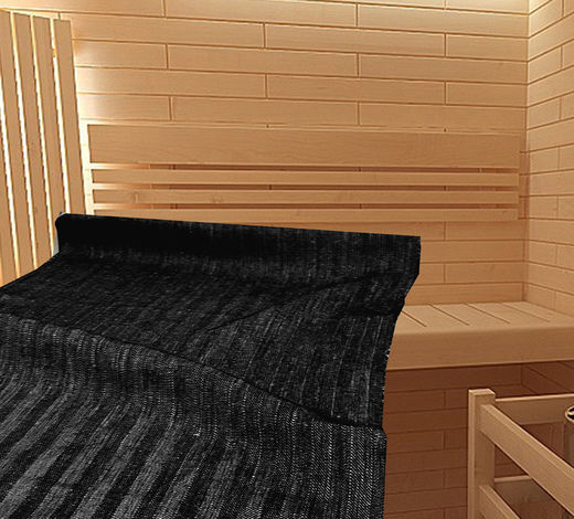 Black sauna seat cover