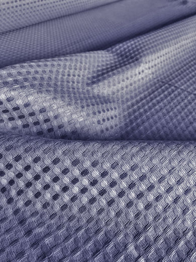 100% Linen Waffle Fabric, Blue-gray color